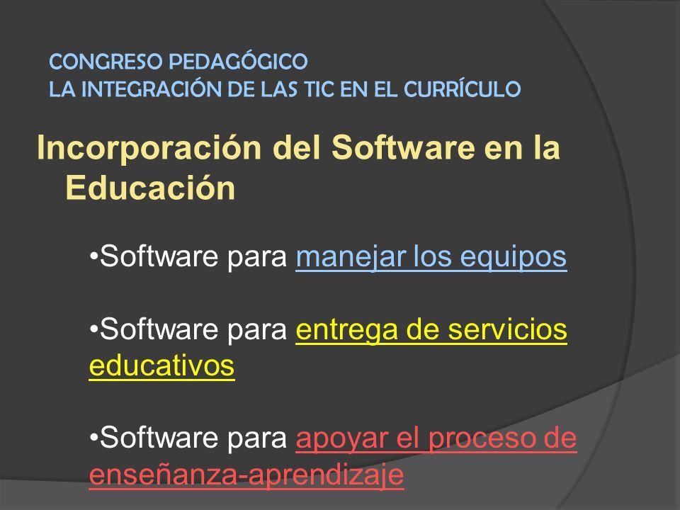Incorporación del Software en la Educación
