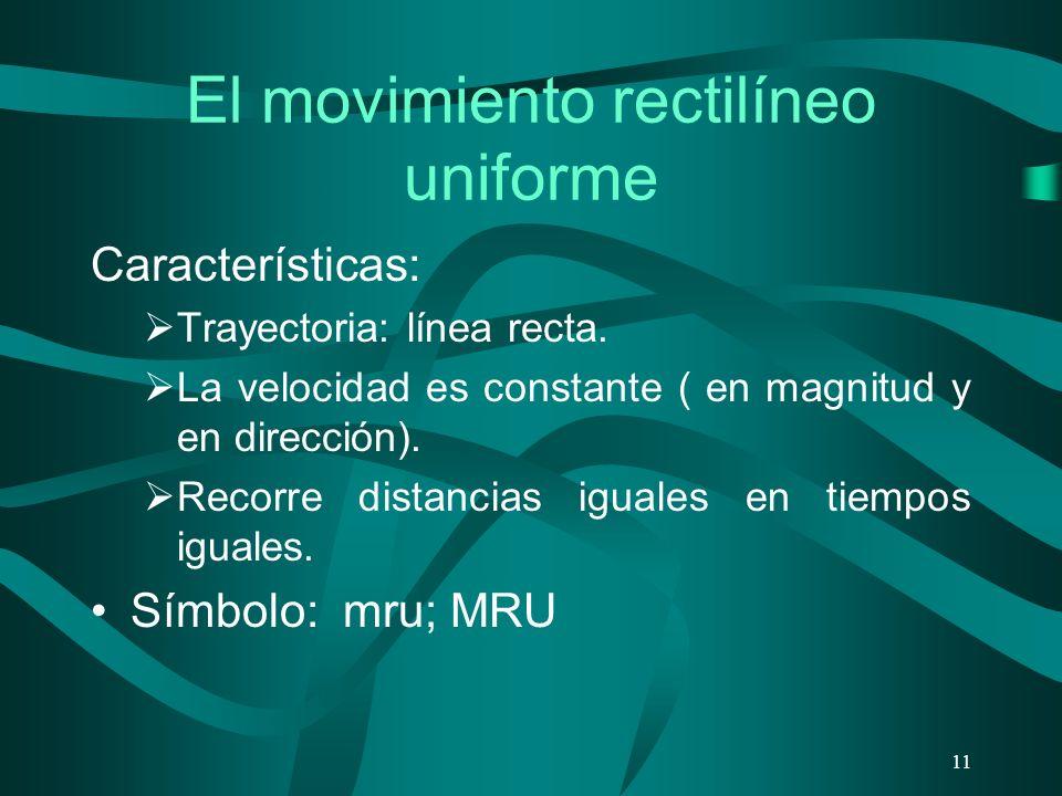 El movimiento rectilíneo uniforme