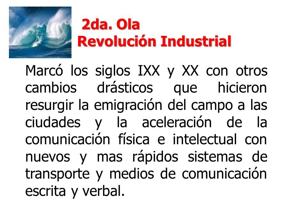 2da. Ola Revolución Industrial