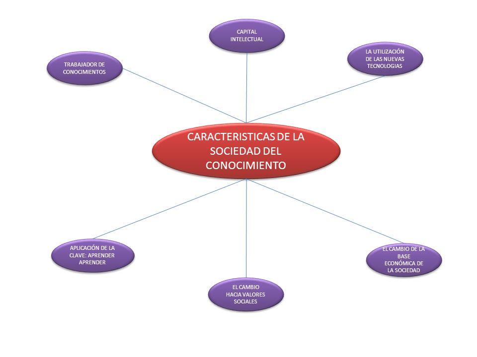 CARACTERISTICAS DE LA SOCIEDAD DEL CONOCIMIENTO