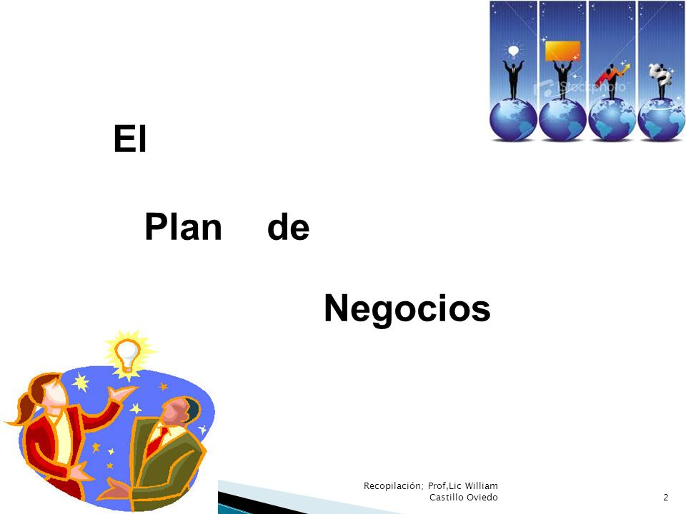 El Plan de Negocios Recopilación; Prof,Lic William Castillo Oviedo