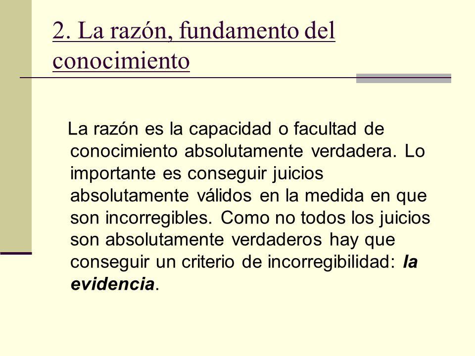2. La razón, fundamento del conocimiento