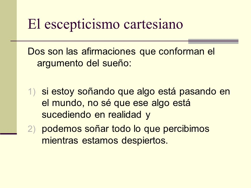El escepticismo cartesiano
