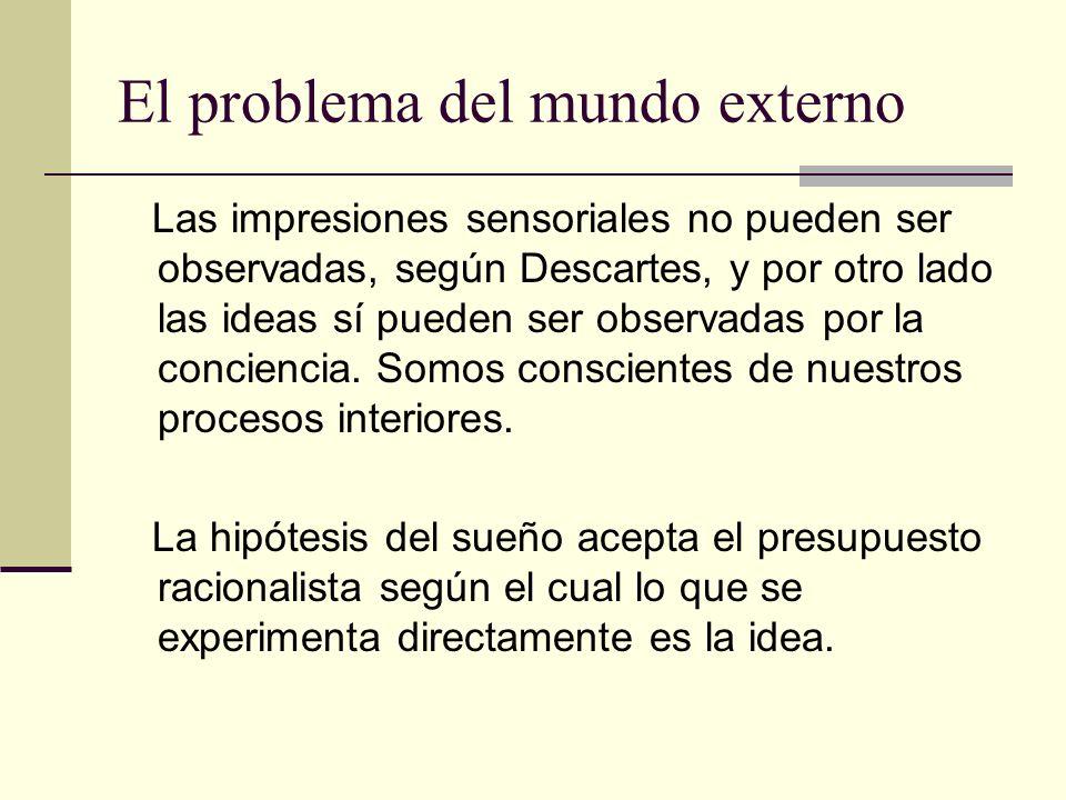 El problema del mundo externo