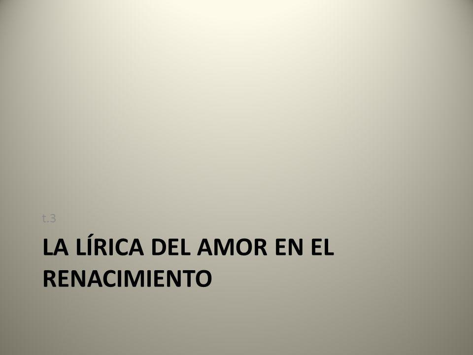 La lírica del amor en el Renacimiento