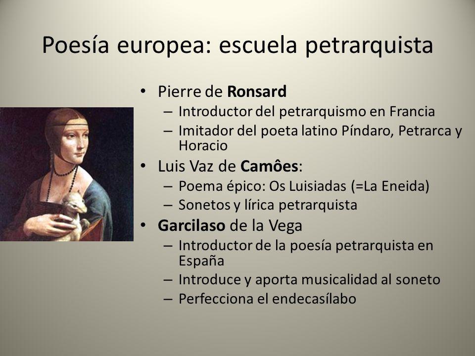 Poesía europea: escuela petrarquista