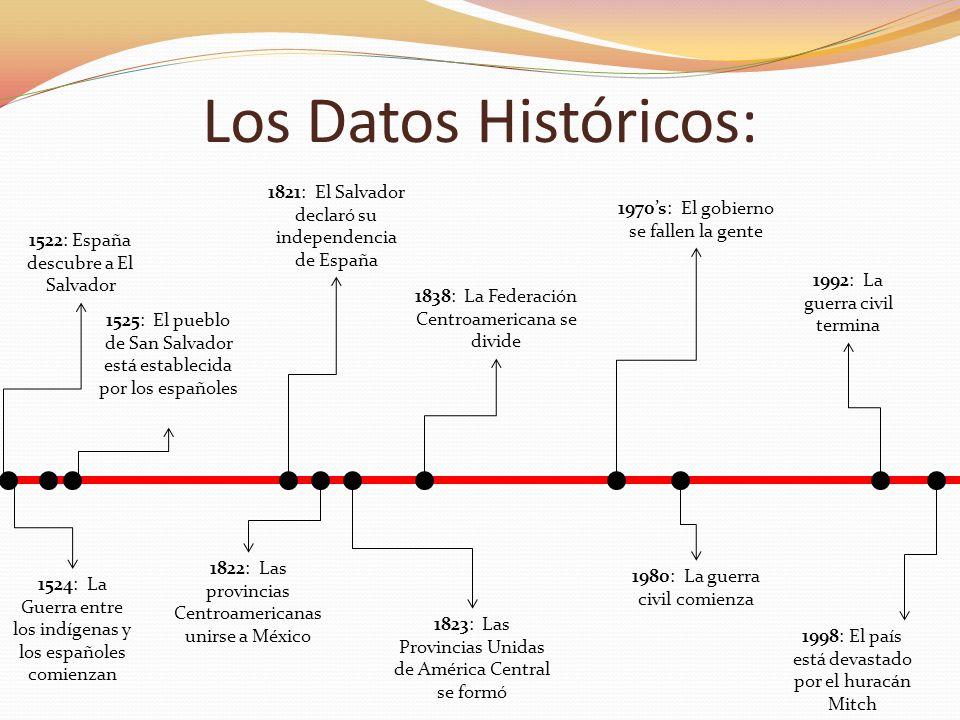 Los Datos Históricos: 1522: España descubre a El Salvador