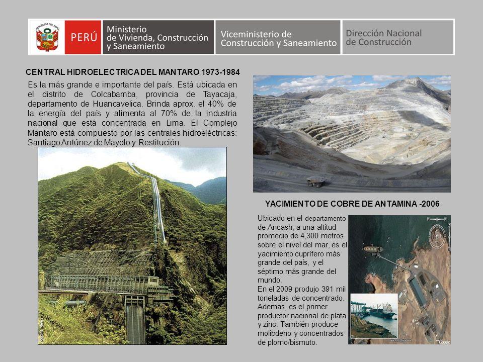 CENTRAL HIDROELECTRICA DEL MANTARO 1973-1984
