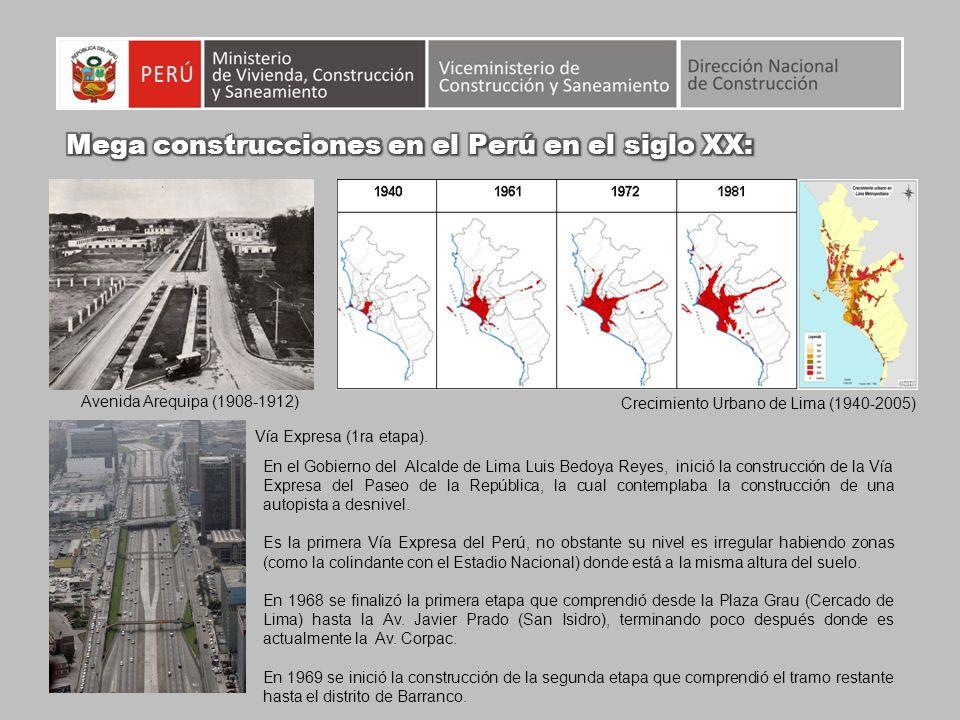 Mega construcciones en el Perú en el siglo XX: