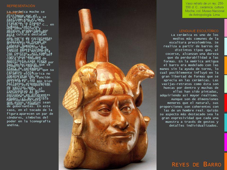 Vaso retrato de un rey, 250-550 d. C. , cerámica, cultura Moche, col