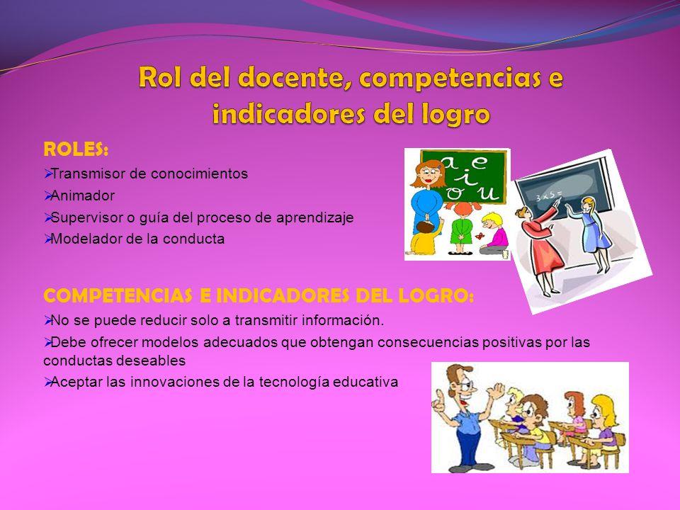 Rol del docente, competencias e indicadores del logro