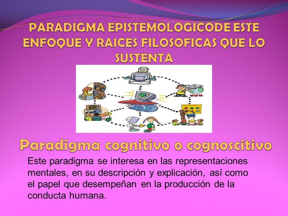 PARADIGMA EPISTEMOLOGICODE ESTE ENFOQUE Y RAICES FILOSOFICAS QUE LO SUSTENTA Paradigma cognitivo o cognoscitivo