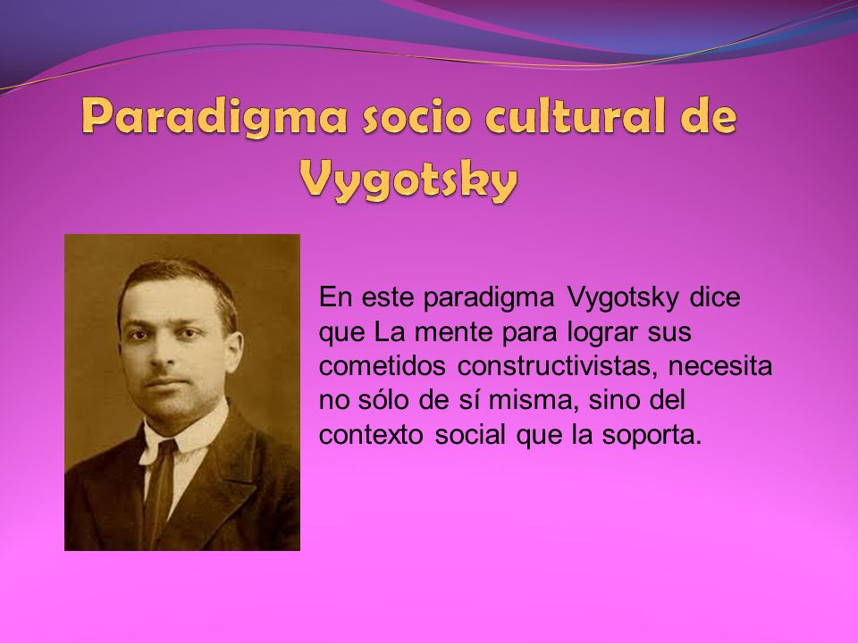 Paradigma socio cultural de Vygotsky
