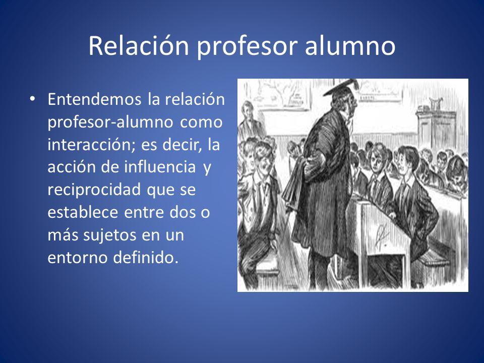 Relación profesor alumno