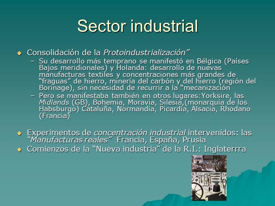 Sector industrial Consolidación de la Protoindustrialización