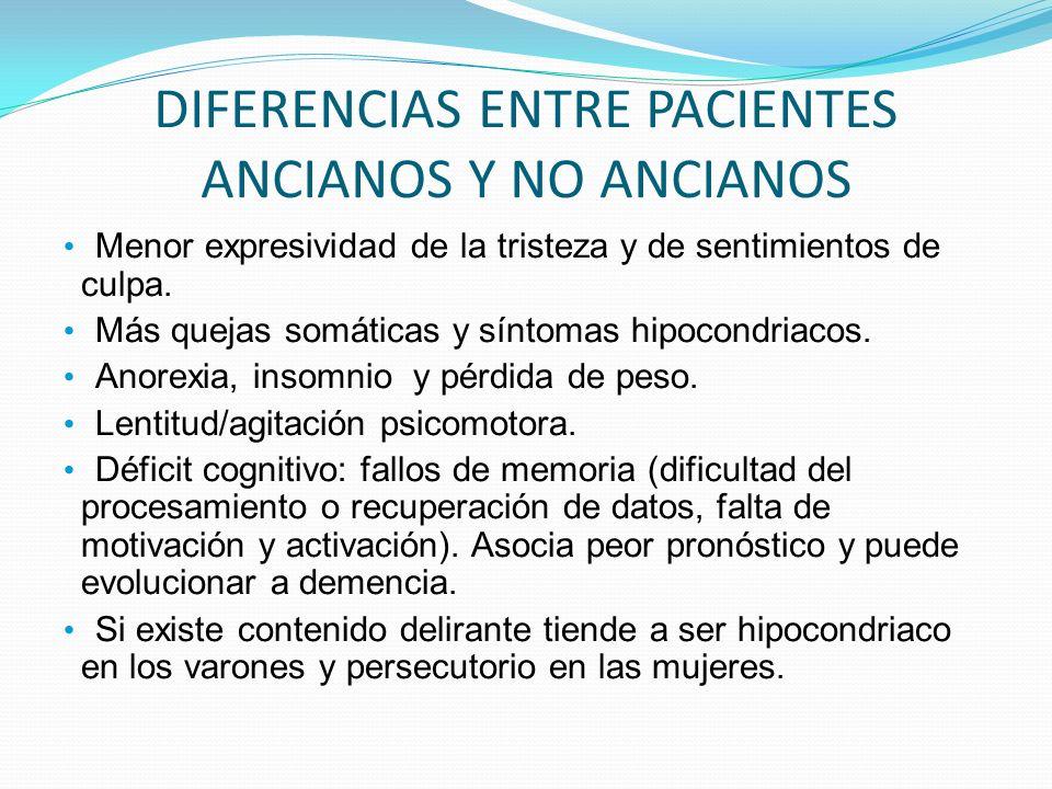 DIFERENCIAS ENTRE PACIENTES ANCIANOS Y NO ANCIANOS