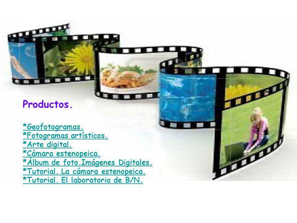 Productos. *Geofotogramas. *Fotogramas artísticos. *Arte digital.