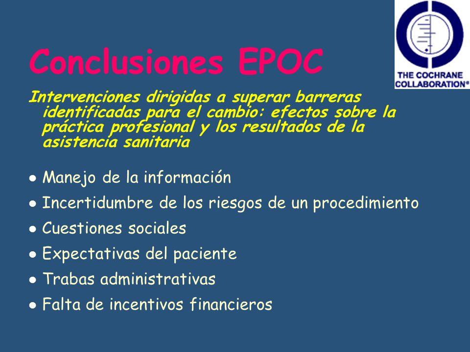 Conclusiones EPOC Manejo de la información