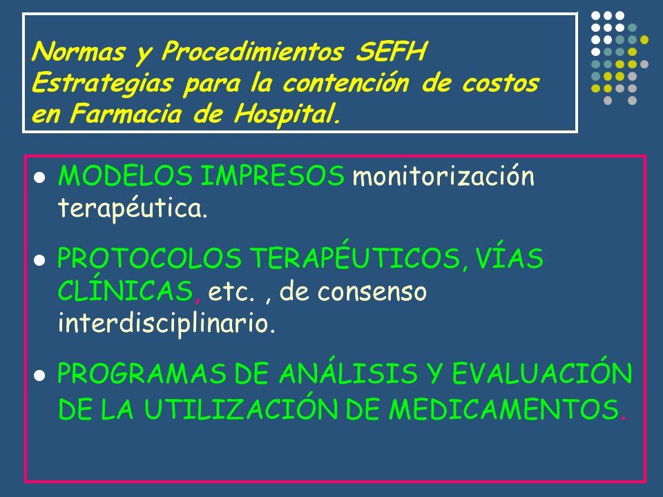 MODELOS IMPRESOS monitorización terapéutica.