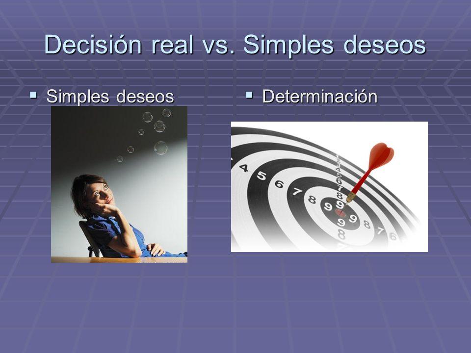 Decisión real vs. Simples deseos