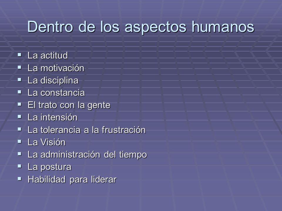 Dentro de los aspectos humanos