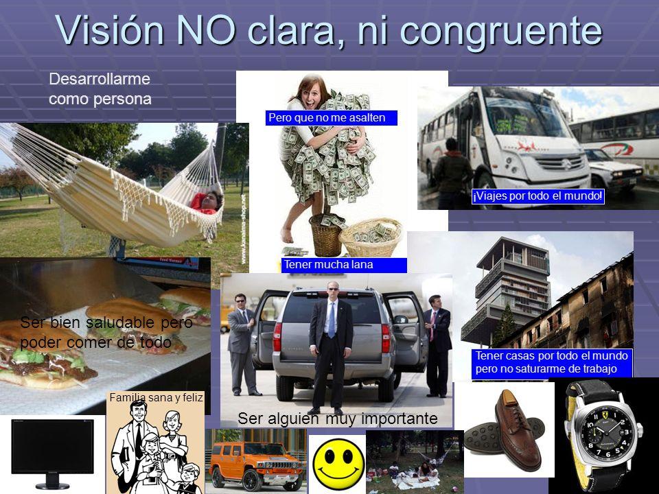 Visión NO clara, ni congruente
