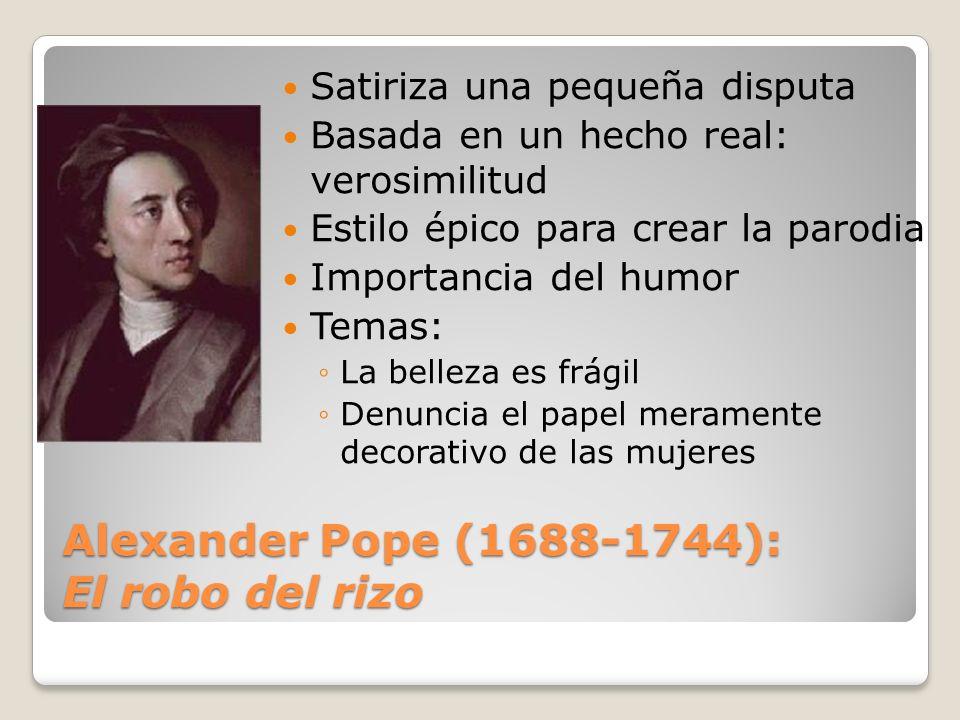 Alexander Pope (1688-1744): El robo del rizo