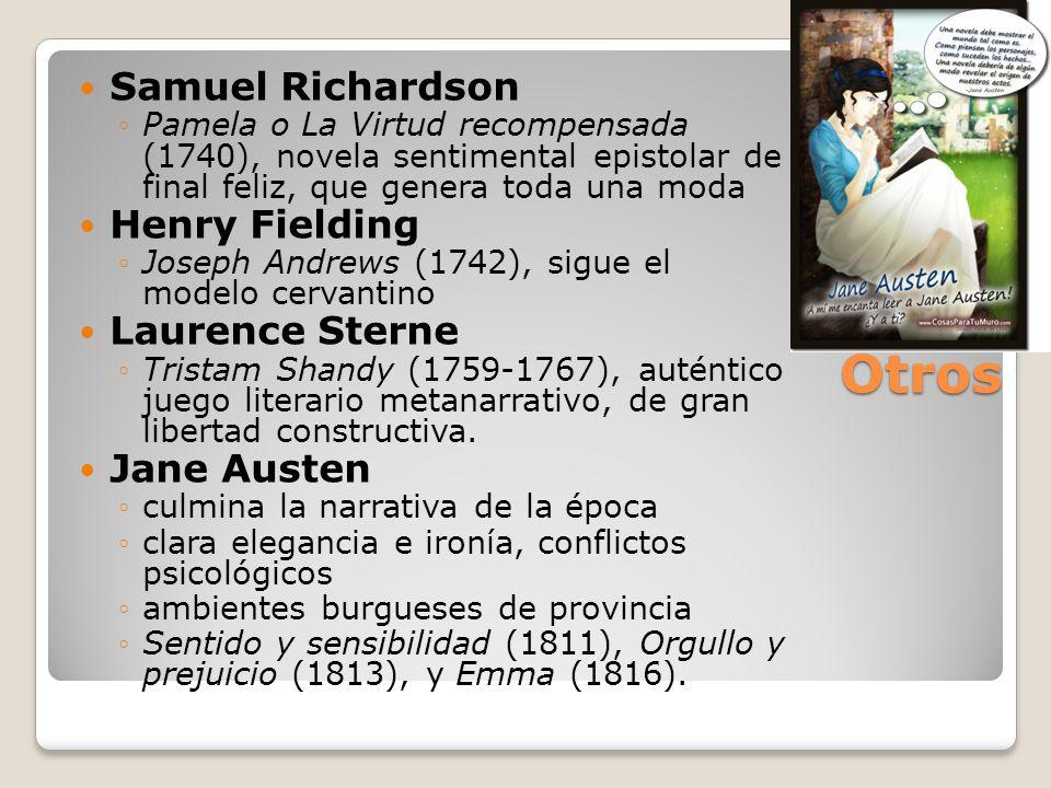 Otros Samuel Richardson Henry Fielding Laurence Sterne Jane Austen