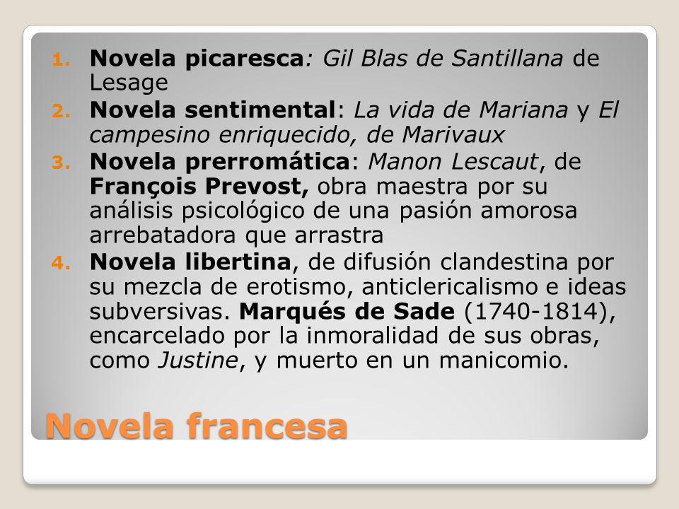 Novela francesa Novela picaresca: Gil Blas de Santillana de Lesage