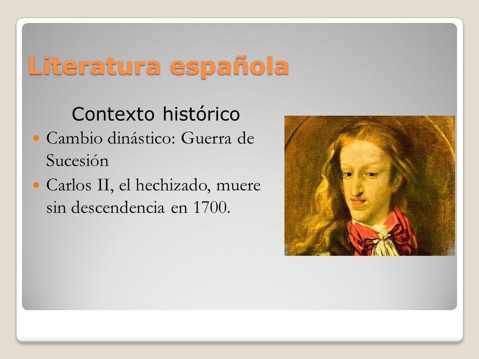 Literatura española Contexto histórico