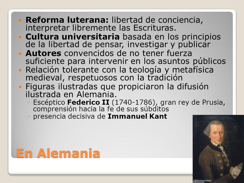 Reforma luterana: libertad de conciencia, interpretar libremente las Escrituras.