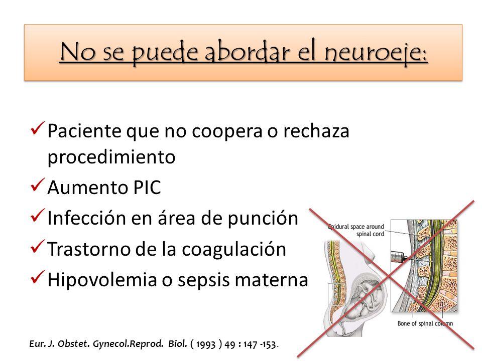No se puede abordar el neuroeje: