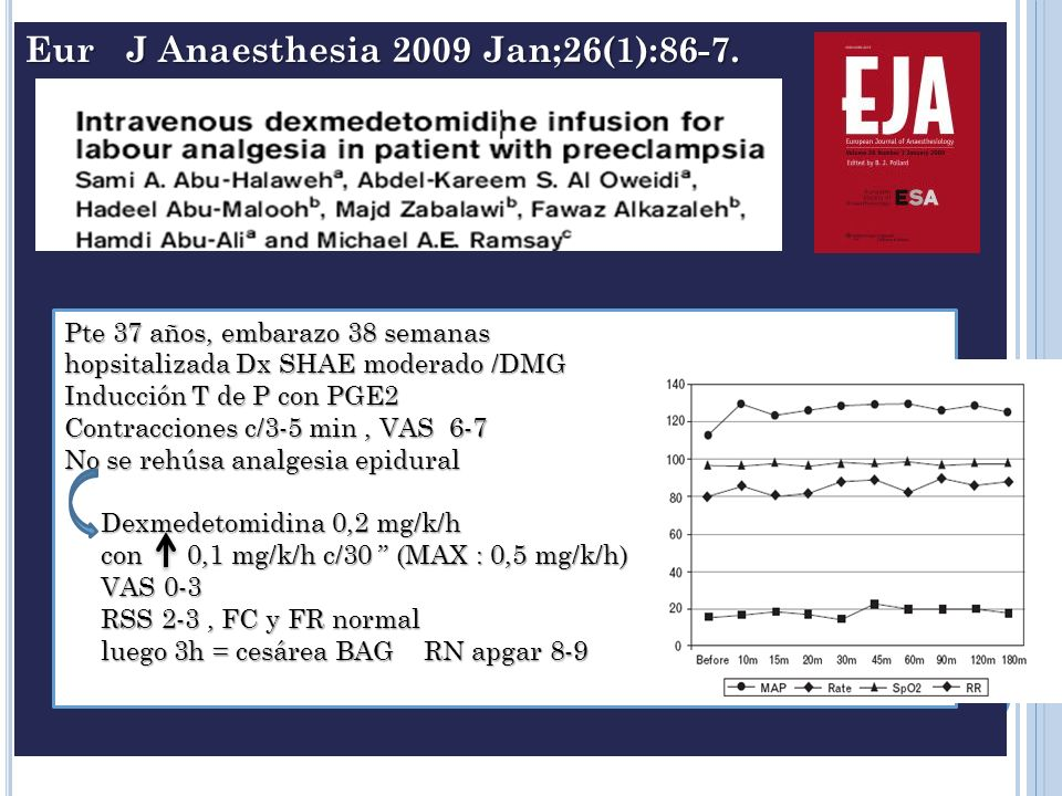 Eur J Anaesthesia 2009 Jan;26(1):86-7.