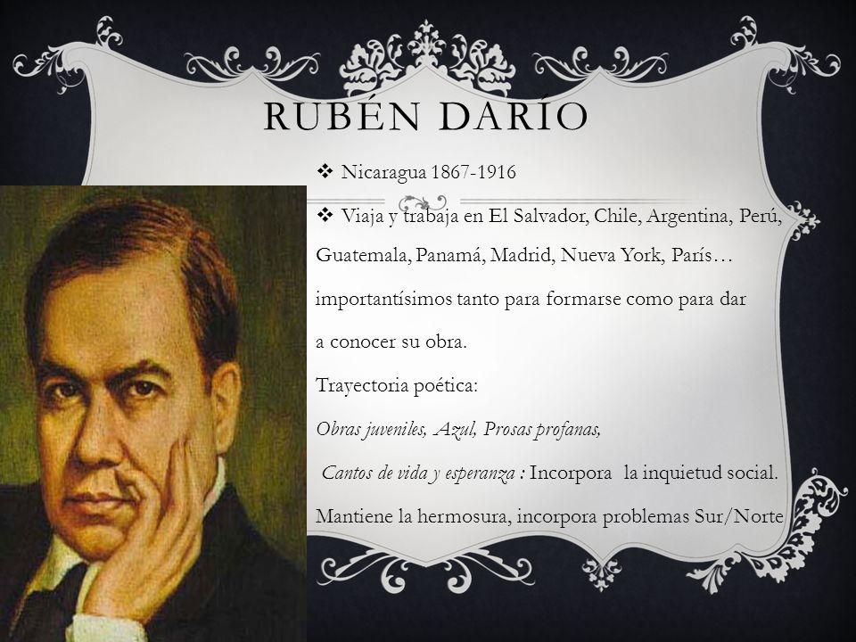 Rubén Darío Nicaragua 1867-1916