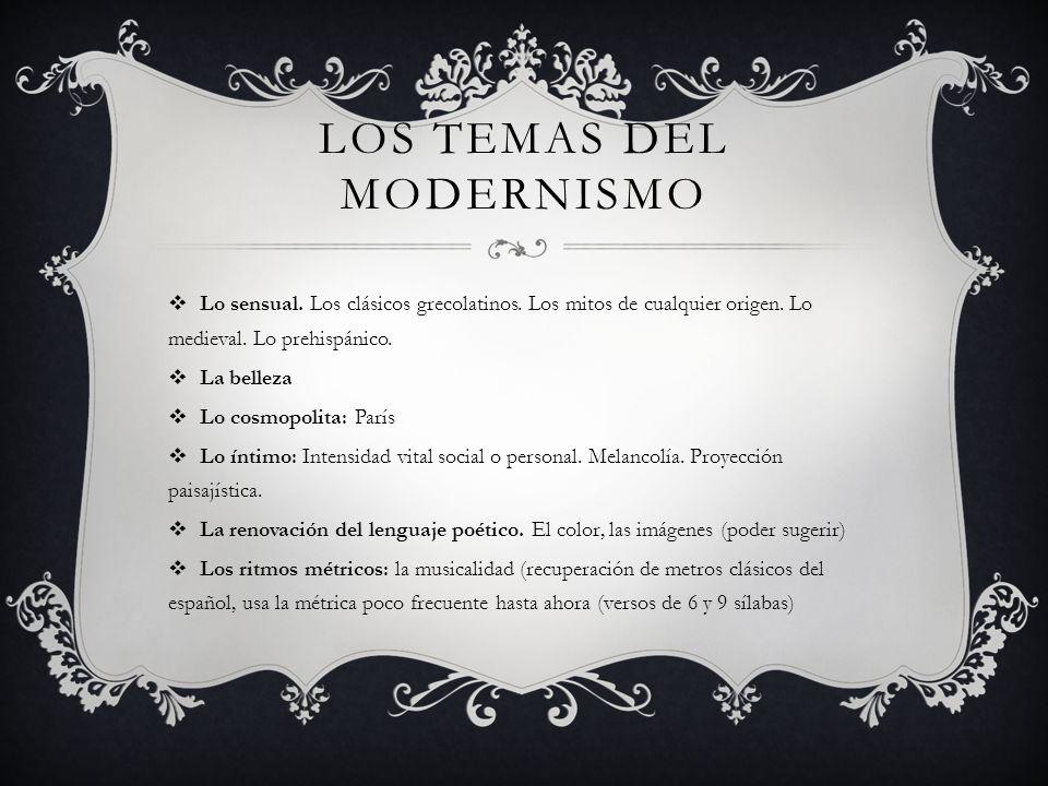 Los temas del modernismo