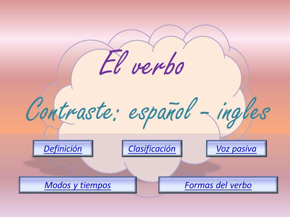 Contraste: español - ingles