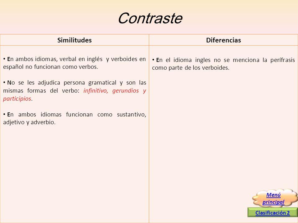 Contraste Similitudes Diferencias