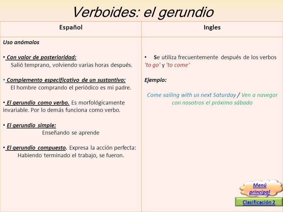 Verboides: el gerundio