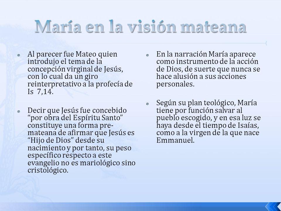 María en la visión mateana