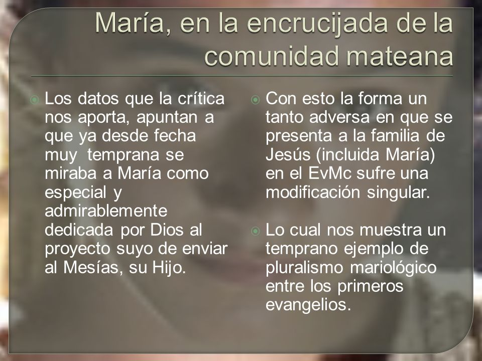 María, en la encrucijada de la comunidad mateana