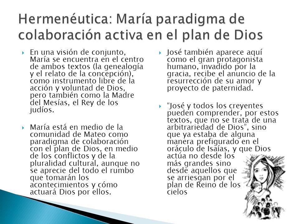 Hermenéutica: María paradigma de colaboración activa en el plan de Dios
