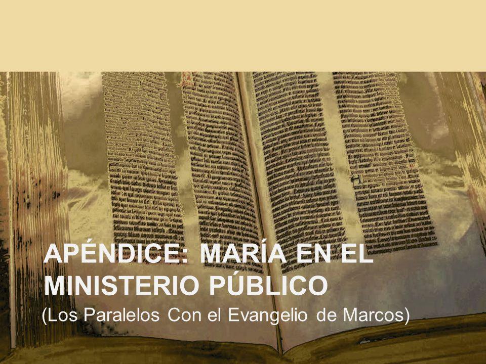 Apéndice: María en el ministerio público