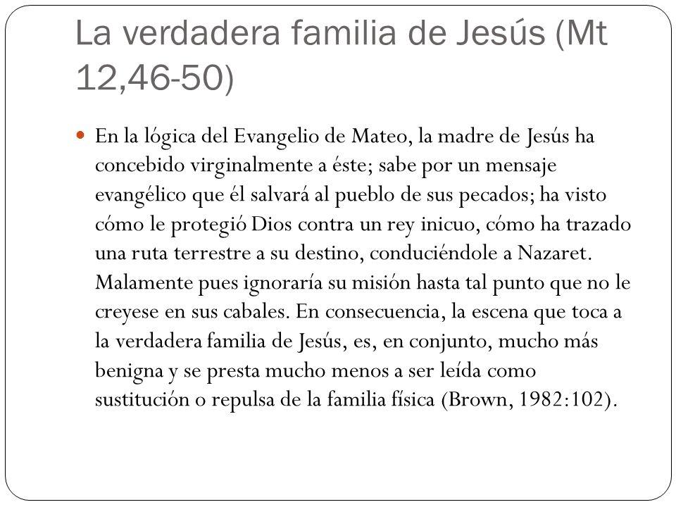 La verdadera familia de Jesús (Mt 12,46-50)