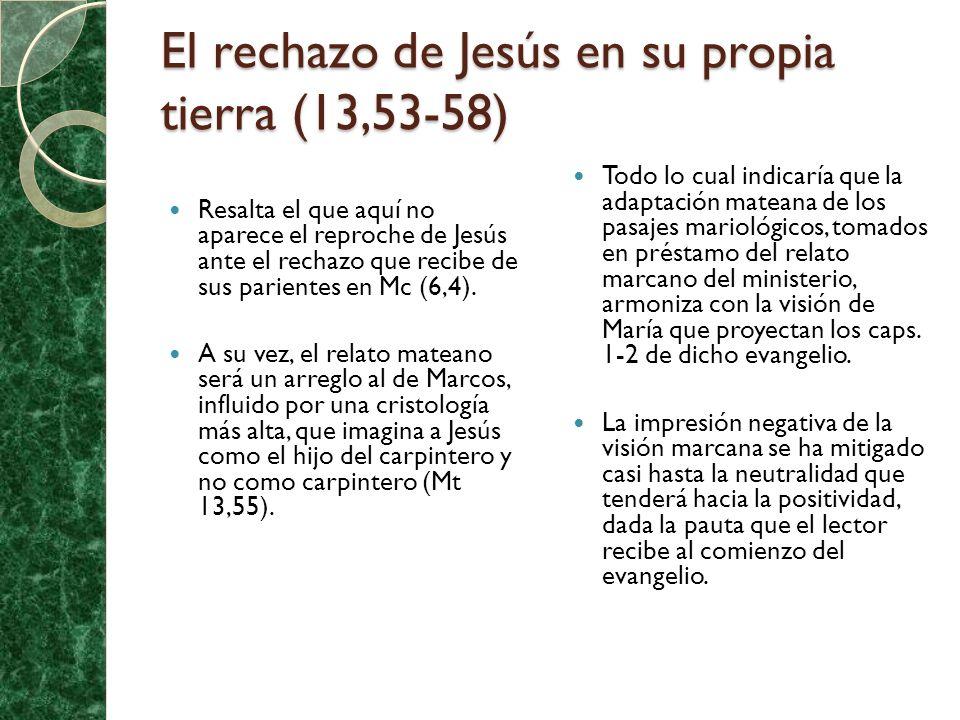 El rechazo de Jesús en su propia tierra (13,53-58)