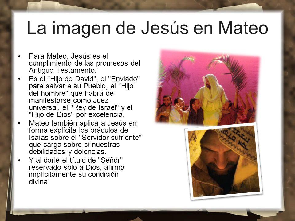 La imagen de Jesús en Mateo