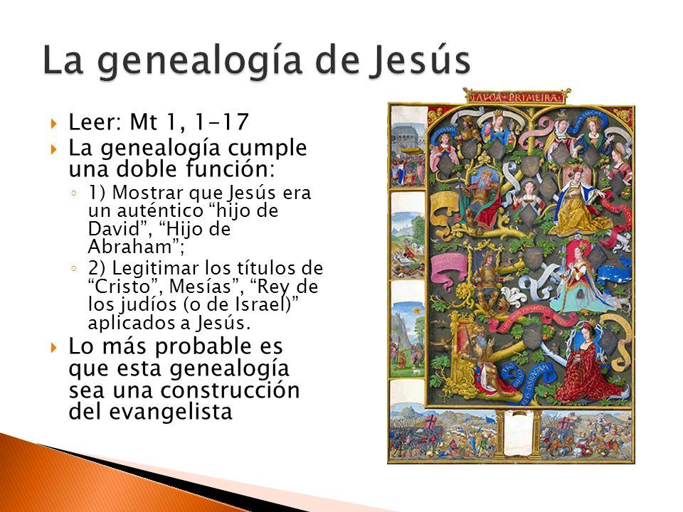 La genealogía de Jesús Leer: Mt 1, 1-17