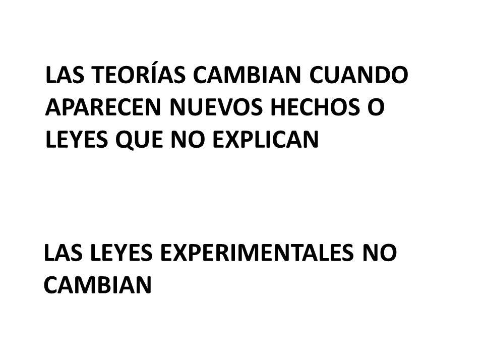 LAS LEYES EXPERIMENTALES NO CAMBIAN