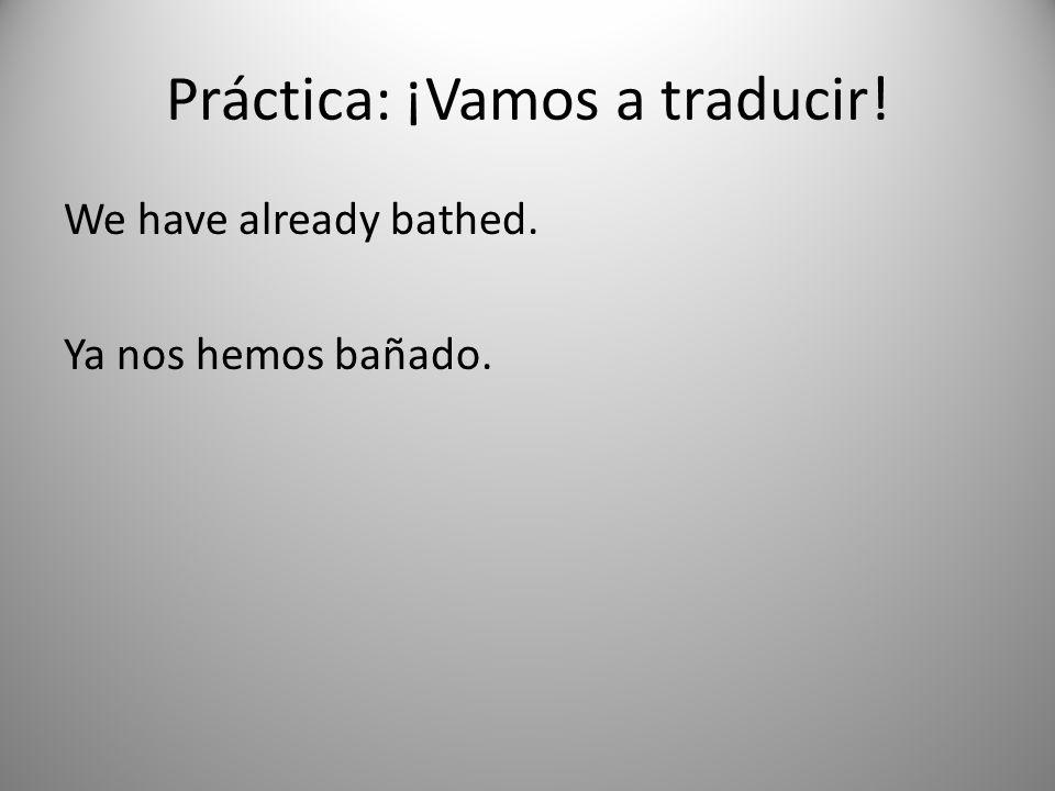 Práctica: ¡Vamos a traducir!
