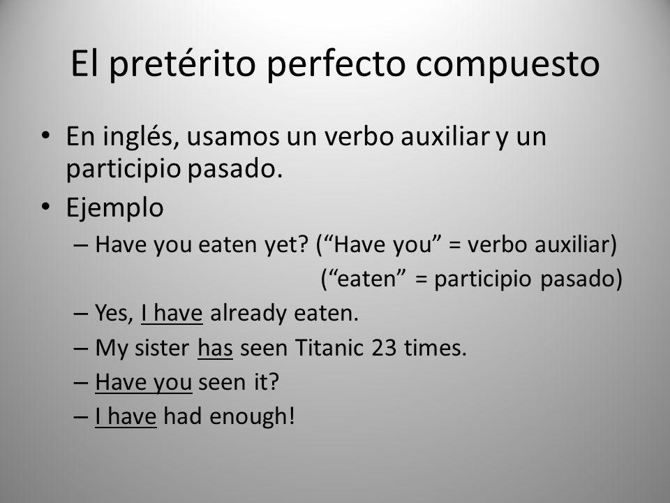 El pretérito perfecto compuesto