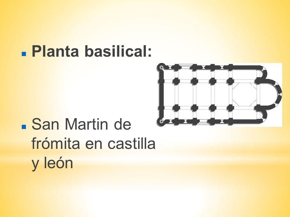 Planta basilical: San Martin de frómita en castilla y león